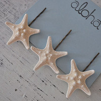 Starfish Hair Clips - starfish accessories - Shell hair clip - Starfish - Starfish Hair Pin - beach wedding