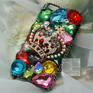 iPhone 4 Bling Case iPhone 3GS Case Bling iPhone 5C Case iPhone 3G Case for iPhone 4S Rhinestone Case iPhone 5S Case iPhone 5 Case Crown