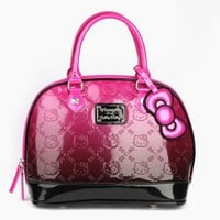 Hello Kitty Embossed Handbag: Pink Ombre