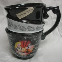 "DISNEY PARKS EXCLUSIVE : Alice in Wonderland ""Quotes"" 12oz Ceramic Cup"