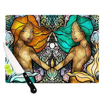 "Mandie Manzano ""Mermaid Twins"" Cutting Board"