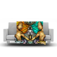 "Mandie Manzano ""Mermaid Twins"" Fleece Throw Blanket"