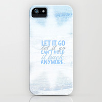 frozen, let it go lyrics... iPhone & iPod Case by studiomarshallarts