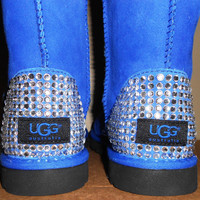 Custom Ugg Boots with Blinged Rhinestone Heels