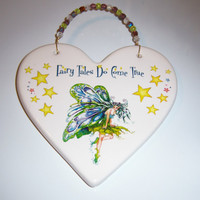 Fairy ceramic plaque