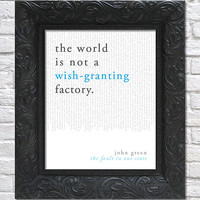 literary art print / book quote // the fault in our stars; john green