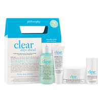 philosophy 'clear days ahead' acne treatment trial kit ($67 v