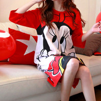 Minnie Mouse Pajama Dress by Chuu