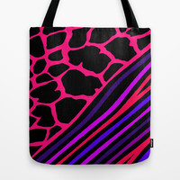 Savanna Black & Pink Tote Bag by Ally Coxon