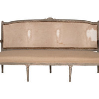 ANTIQUE CREME SETTEE | seating | FLEA | Jayson Home  Garden