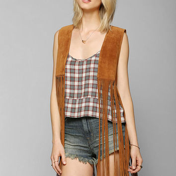 Staring At Stars Suede Fringe Vest - Urban Outfitters