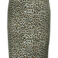 Leopard Plus-Size Leopard Retro Urban Pencil Skirt