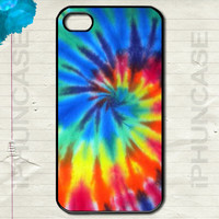 Retro Rainbow Tie-Dye Spiral Pattern Colorful Groovy Rad Hippy Cute Case <> Apple iPhone 4, iPhone 4S, iPhone 5, iPhone 5S & iPhone 5C Cases