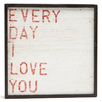 'Every Day I Love You' Vintage Framed Art Print