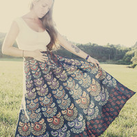 Handmade Wrap Skirt, Fabric Choices, Hippie, Organic, Sun and Moon, Bohemian Skirt, Cotton, Tapestry, Wrapron, Sundress, Maxi Skirt
