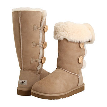 UGG Bailey Button Triplet Rose Clay - Zappos.com Free Shipping BOTH Ways