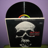 Rare Vinyl Record Drop Dead - An Exercise in Horror - Arch Oboler LP 1960s Halloween Spooky Stories