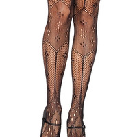 Parisian Beauty Netted Tights - PLASTICLAND