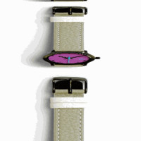 Taki Crystal Watch, Gray/Purple - The Afternoon