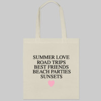 Summer List Tote Bag