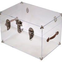 Payton Trunk, Clear/ChromePLEXI-CRAFT