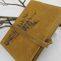leather journal hand-printed custom for you
