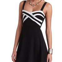 COLOR BLOCK SKATER DRESS