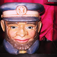 Vintage TOBY MUG - Planter Military Man Fine China