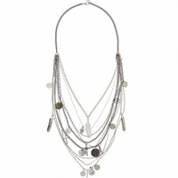 LAYERED TRINKET CRYSTAL NECKLACE