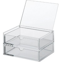Acrylic Case 2 drawers with lid - Small