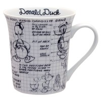 Disney Sketchbook Donald Mug, Set of 4