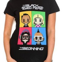 The Black Eyed Peas Cartoon Girls T-Shirt Plus Size