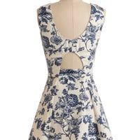 Sleeveless A-line Avid Antiquer Dress