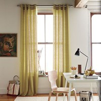 Linen Cotton Grommet Window Panel | west elm