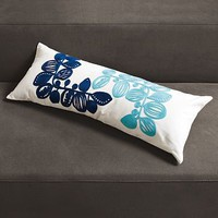 Embroidered Danish Leaf Pillow Cover | west elm