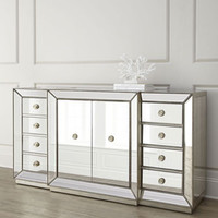 Shilo Two-Door Mirrored Console