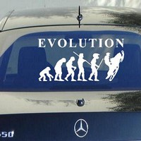 Evolution of Snowmobile 8 Inch Decal Sticker