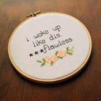 Flawless Beyonce Cross Stitch