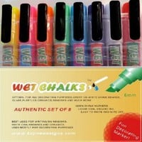 Liquid Chalk Neon Markers for Chalkboard, Wet Chalks set of 8