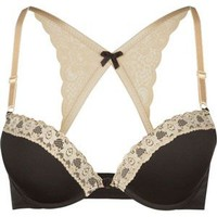 Lace Racerback Bra Black  In Sizes 3