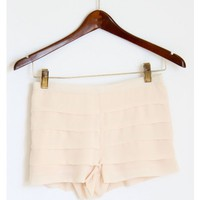 Blush Chiffon Layered Shorts