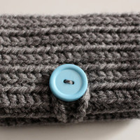 Crochet Wallet/Clutch/Wristlet with Two Pockets and Button Clasp