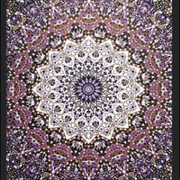 Glow-in-the-Dark - Purple India Star - Tapestry