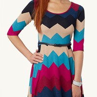 Aztec Zip Back Shift Dress