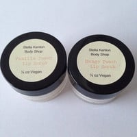Vanilla Peach and Mango Peach Lip Scrubs, Gift Set, Valentine's Day