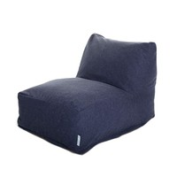 Linen-Twill Bean Bag Lounge Chair