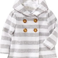 Hooded Fleece Peacoats for Baby