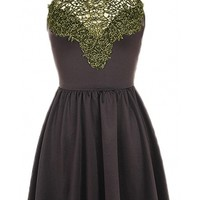 Lace Neck Skater Dress - 29 N Under
