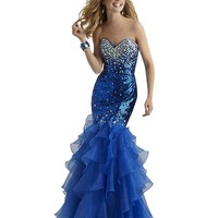 Electric Blue Sequin Mermaid Prom and Formal Dress 2304