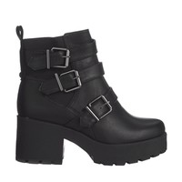 New Look Compact Black Chunky Strap Detailed Boots